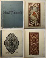 Lippold Großfomatiges Zeichenheft 1889/90 Kunst Architektur Ornamente Muster sf