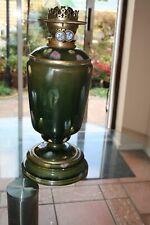 More details for antique very large unique victorian hinks & sons duplex oil lamp porcelain