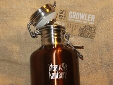 KLEAN KANTEEN GROWLER Sports Water Bottle Stainless Steel 40 oz Swing Lock Top