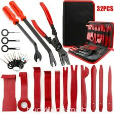 32Pcs Trim Removal Tool Kit Trimmer Set Car Puller Door Pry Clip Plier Remover