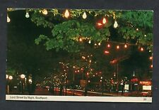 View of Lord Street by Night, Southport. Stamp/Postmark - C1970's.