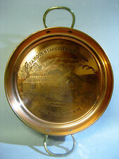 Famous Blacksmiths Shop Gretna Green Solid Copper Tray With Brass Handles