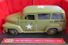 MIRA 1/18 6244 1950 CHEVROLET CARRYALL SUBURBAN US ARMY boxed rare Comme neuf