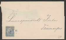 FINLAND 1860's 2 very early covers to Bjorneborg SWEDEN - Rare cachets