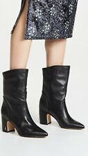Sam Edelman Hartley Classic Pull-Up,Pointed-Toe Black Leather Boots Sz.7M $89