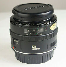 Canon EF 50mm f1.8 Lens METAL MOUNT with filter and caps