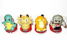Fuerza de dedo Pokémon Juguetes Squirtle, Geodude, Psyduck, Meowth Juguete Vintage Retro
