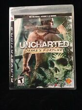 """PS3 Uncharted: Drake's Fortune - Black Label """"Not for Resale"""" Variant ***NEW***"""