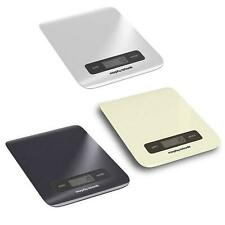 1G-5KG Digital Touch Screen Kitchen Scale in Black/Ivory/Grey By Morphy Richards