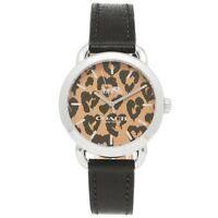 Coach Lex W1534 Black Leather Strap Watch With Printed Dial 14502865 $225