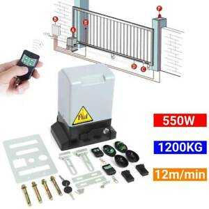 Sliding Electric Gate Opener Automatic Motor Driveway Security Kit 1200KG 550W