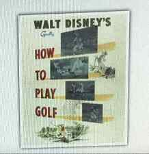 Disney Short Film Movie Poster Sports Art Print Goofy How to Play Golf 16 x 20