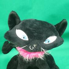 Pink Boa Collar Black Poseable Cat Kitten Russ Pinkies Palace Queen Plush Toy