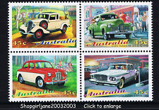 1997 - Australia's Classic Cars - se-tennant block of 4 - MNH