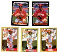 ROOKIE 1987 Topps #648 Barry Larkin + Donruss #492 Hall Of Fame 5 card lot