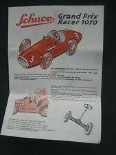Original Schuco Bedienungsanleitung Grand Prix Racer 1070