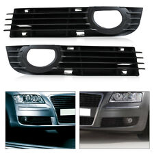 Front Fog light lamp Bumper Grilles set for Audi A8 S8 QUATTRO D3 2006 2007 2008