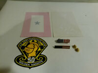 US Army Parachute Golden Knights 50th Blue Star decal US flag pin button pinback
