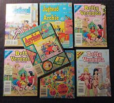 1974/04 Archie Betty Veronica Laugh Jughead LOT of 7 VG+ to FN+