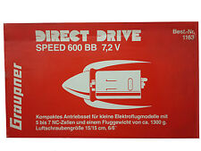 MOTORE X BARCHE TIMONERIA INGRANAGGI GRAUPNER DIRECT DRIVE 600 BB 7.2 V 69DO