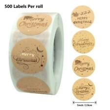500pcs Round Merry Christmas Stickers Thank You Card Box Package Labels Sealing