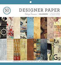 ColorBok 68117E Designer Paper Pad Vintage Treasures, 12 X 12