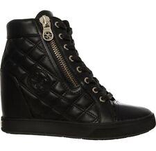 Guess WOMEN'S Zapatillas Size UK 6 EU 39 Acolchado Negro Tacón Con Plataforma Zapatillas Nuevas