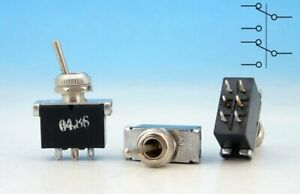 3x HEAVY DUTY Vintage 80's 220V 3A ON-ON DPDT TOGGLE GUITAR MINI Lever SWITCH