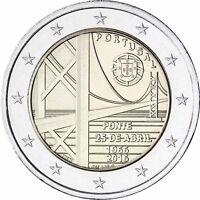 Portugal 2 Euro 2016 Hängebrücke Brücke des 25. April in Lissabon bankfrisch