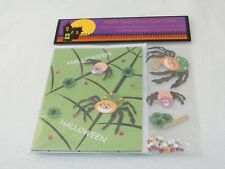 New . DIY . Make Your Own Card Set - Makes 3 Halloween Cards . Stars, Spiders...