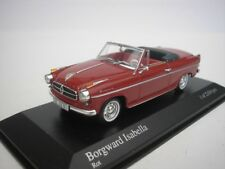 Borgward Isabella Cabriolet 1959 Rosso 1/43 Minichamps 400096060 Nuovo