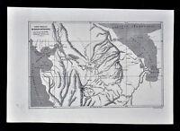 1880 Tour du Monde Antique Map - Darien Gap Panama South - Gulf San Miguel Uraba