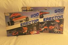 2 Erector Sets: 200 Construction System, and 500 Motorized Remote Control