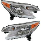 Headlight Set For 2014 2015 2016 Nissan Versa Note Left and Right With Bulb 2Pc