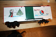 Lionel G scale box car # 8-87015 used Christmas box car not in right box