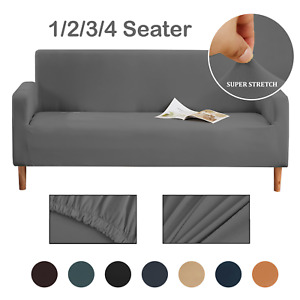 UK 1/2/3/4 Seater Sofa Covers Easy Fit Stretch Protector Elastic Couch Cover
