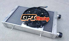 62MM ALLOY RADIATOR&FAN FIT LOTUS EUROPA COUPE S1 S2 TC 1.5/1.6L 1966-1976