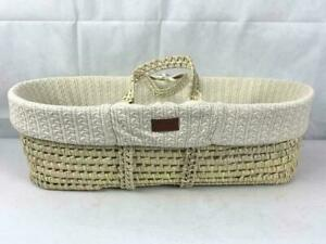 The Little Green Sheep Natural Knitted Moses Basket