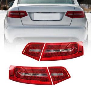Fit for Audi A6 S6 RS6 Sedan 2009 2010 2011 Red Lens LED Lamp Tail Light 4pcs