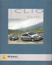 Renault Clio 2005 UK Market Launch 12pp Sales Brochure 3-dr 5-dr
