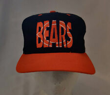 Vintage Chicago Bears Snapback Hat Cap  #1 Apparel Ghost Shadow Logo Football