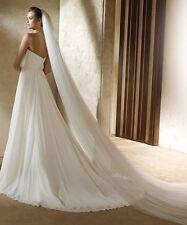 Elegant One Tier White Cathedral Veil, Bridal, Wedding (Sparkle-1924)
