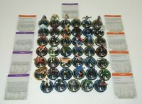 Heroclix Collection LOT 50 Figures BFC Feat Marvel DC Indy REV Kang She-Hulk