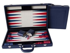 "Dal Rossi Blue Backgammon 18"" PU Leather"