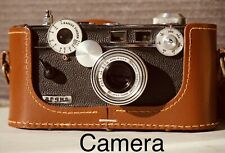 New ListingVintage Argus C3 Range Finder 35mm Camera w/Logo Case,Box,Flash,Paperwork