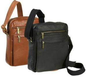 """NEW AMERILEATHER 13"""" FRONT FLAP MESSENGER BAG (AVAILABLE IN BLACK, BROWN)"""