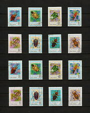 (YYAZ 623) Vietnam 1982 IMPERF + Perf NH Mich 1258 -65 Scott 1221 -28 Insects