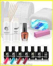 KIT SMALTO SEMIPERMANENTE 4 COLOR GEL UV NAIL ART CON LAMPADA GERMANY NDED EON
