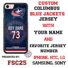 Columbus Blue Jackets Personalized Hockey Jersey Phone Case Cover for iPhone etc
