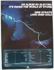 DIRE STRAITS 1982 POSTER ADVERT LOVE OVER GOLD